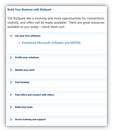 Sign Up for BizSpark and Get a Free MSDN Account